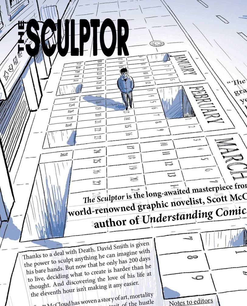 The Sculptor by Scott Mccloud (2015, Hardcover)